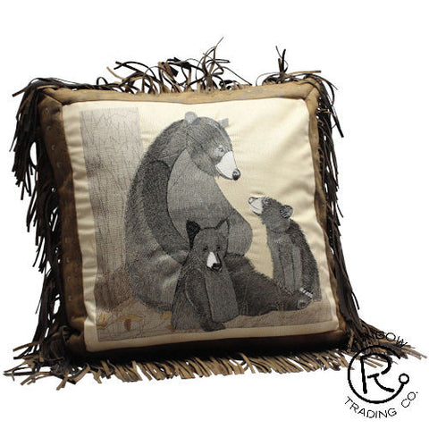 Black Bear Accent Pillow