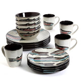 Trout Lodge 16-Pc Square Dinnerware Set