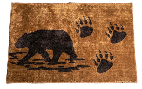 Chocolate Bear & Paws Kitchen/Bath Mat