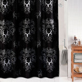 """Bone Collector Black"" Shower Curtain"