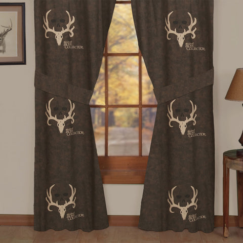 """Bone Collector Brown"" Drapes"