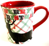 Deer Plaid Christmas Mug