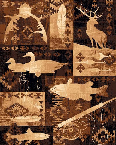 """Northwoods Motif"" Area Rug - Various Sizes"
