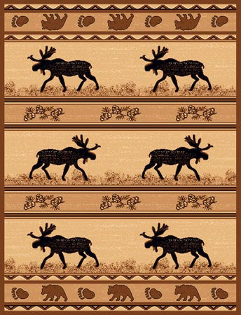 """Moose & Bear Area Rug - Various Sizes"