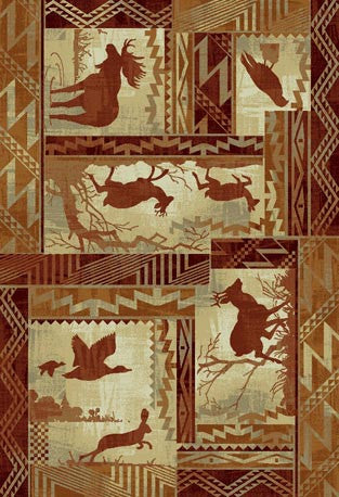 """Northwoods Life"" Area Rug - Various Sizes"