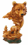 Bear Wood Look Carved Statue