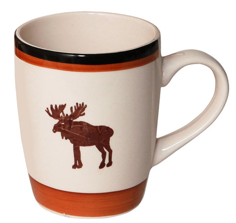 """Moose Cabin"" 12 Oz Ceramic Mug"