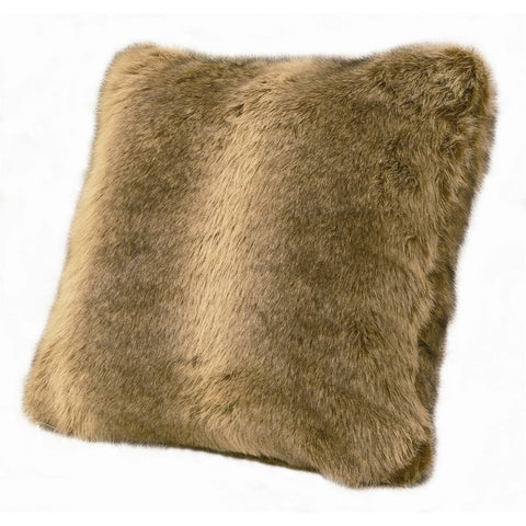 Faux Wolf Fur Decorative Pillow