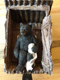 Bear in Outhouse Toilet Paper Holder