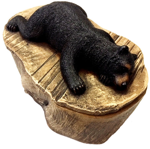 Black Bear Large Trinket Box