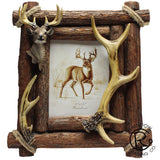 "Antler with Deer Bust Frame - 8"" x 10"""