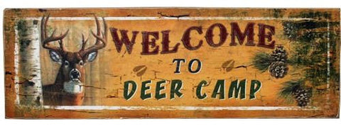 """Welcome To Deer Camp"" Sign - 24"""