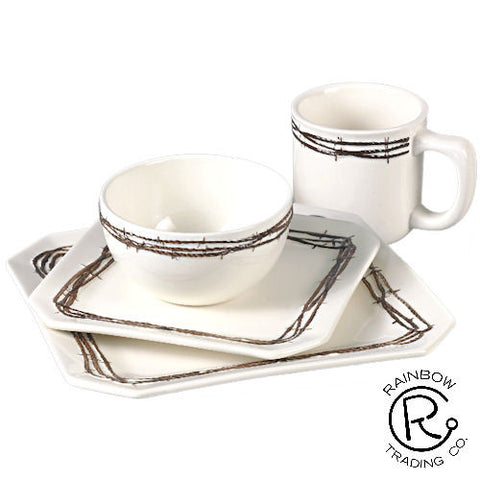 Barbwire Dinner Set - 16 Pieces