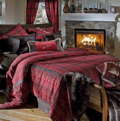 Sagamore Lake Plaid Bedding Set - Various Sizes