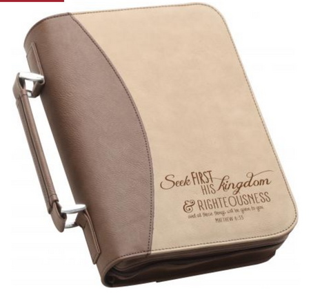 Seek First His Kingdom Bible Cover