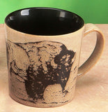 Glazed North American Woodlands Mug - Bison