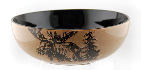 "Moose Serving Bowl - 10"" Diameter"