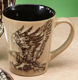 Glazed North American Woodlands Mug - Eagle