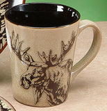 Glazed North American Woodlands Mug - Moose