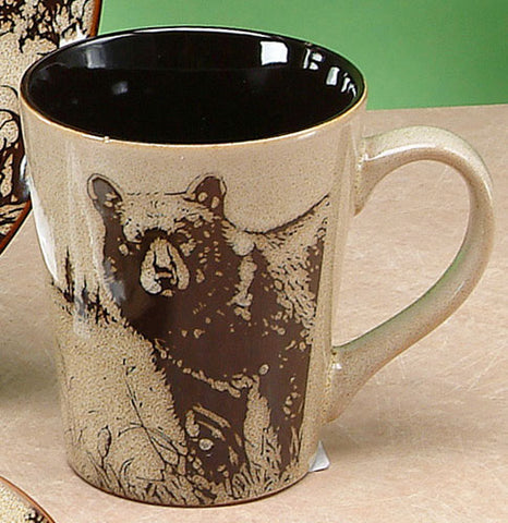 Glazed North American Woodlands Mug - Bear