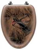 """Back Waters"" Oak Toilet Seat"