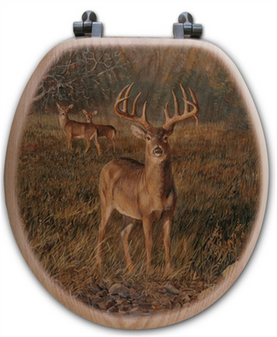 """First Light"" Bison Oak Toilet Seat"