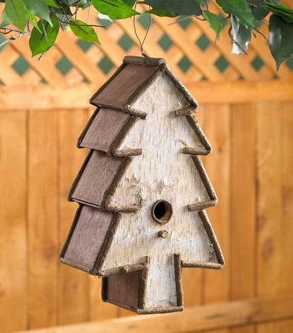 Birch & Twig Tree Birdhouse