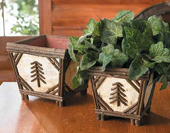 Birch & Twig Nesting Baskets - Set of 2