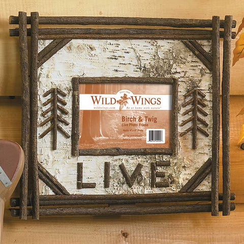 """Live"" Birch and Twig Photo Frame"
