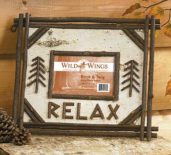 "Birch and Twig ""Relax"" Picture Frame - 4"" x 6"""