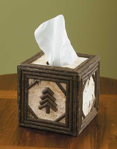 Birch & Twig Square Tissue Box Cover