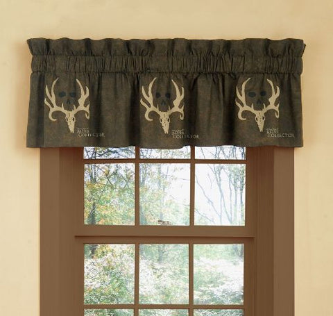 """Bone Collector Brown"" Valance"