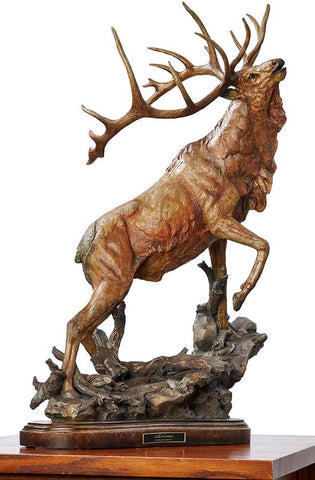 "Call to Contest – Elk Sculpture 31"" Tall"