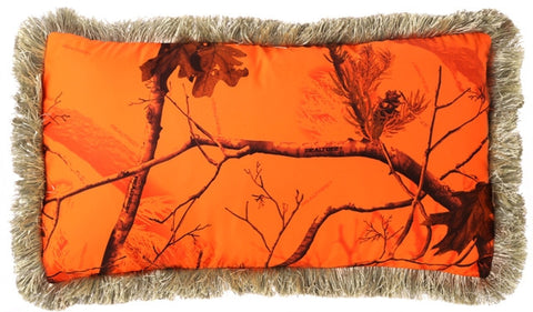 """Camo Blaze"" Throw Pillow"
