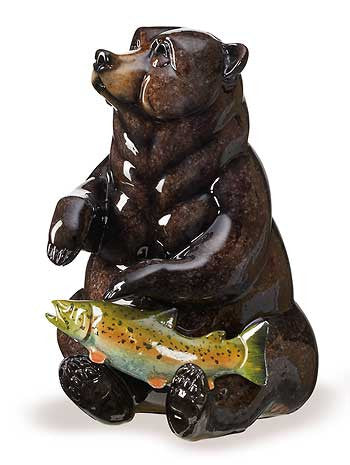 Finders Keepers – Bear Imago™ Sculpture in Onyx Finish