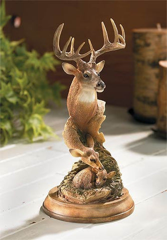 Endearing Moment - Whitetail Deer Sculpture