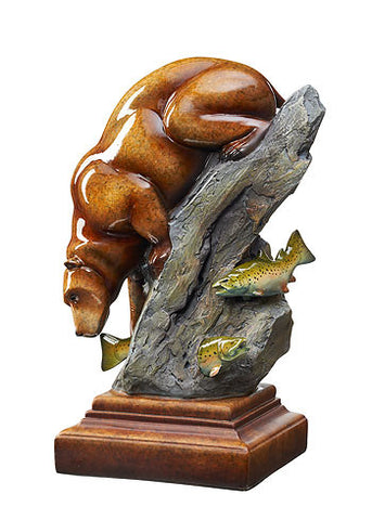 Heads or Tails – Bear Imago™ Sculpture in Topaz Finish