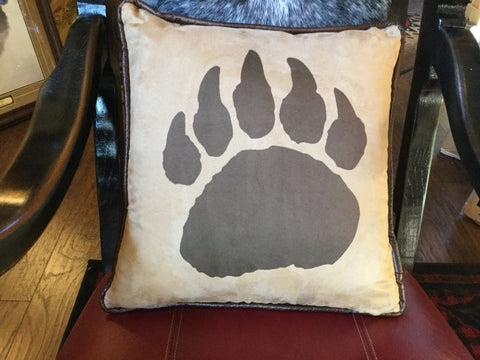 Bear paw print pillow