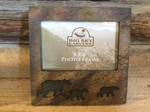 Bear stonecast 4 x 6 photo frame