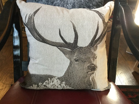 Deer Sepia-Colored Pillow