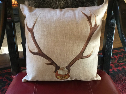 Antler rack pillow