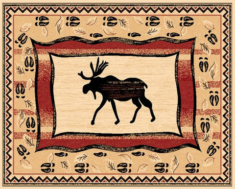 """Moose"" Area Rug - Various Sizes"