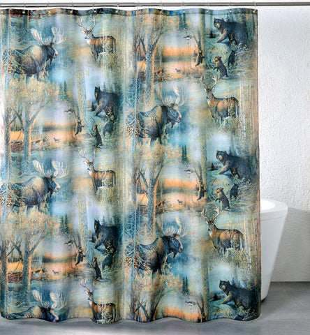 """Moose"" Shower Curtain"
