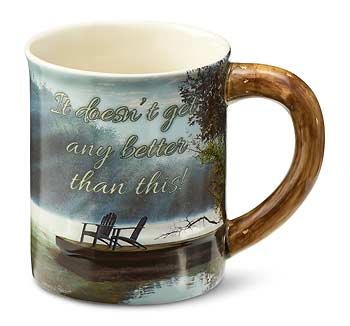 A Place to Ponder – Lake Scene Sculpted Coffee Mug