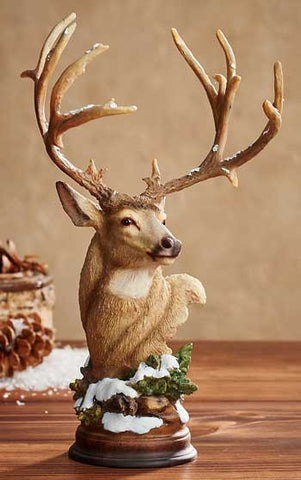 First Snow – Mule Deer Sculpture
