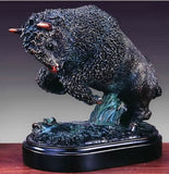 Western Charging Buffalo Sculpture Small