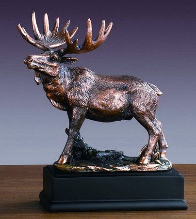 Western Moose Sculpture