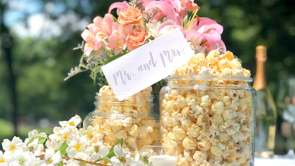 Popcorn for the People Wedding Favor