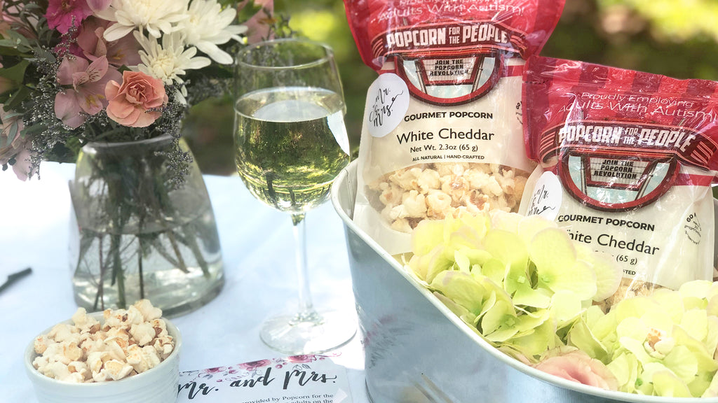Popcorn for the People Wedding Favor Bag