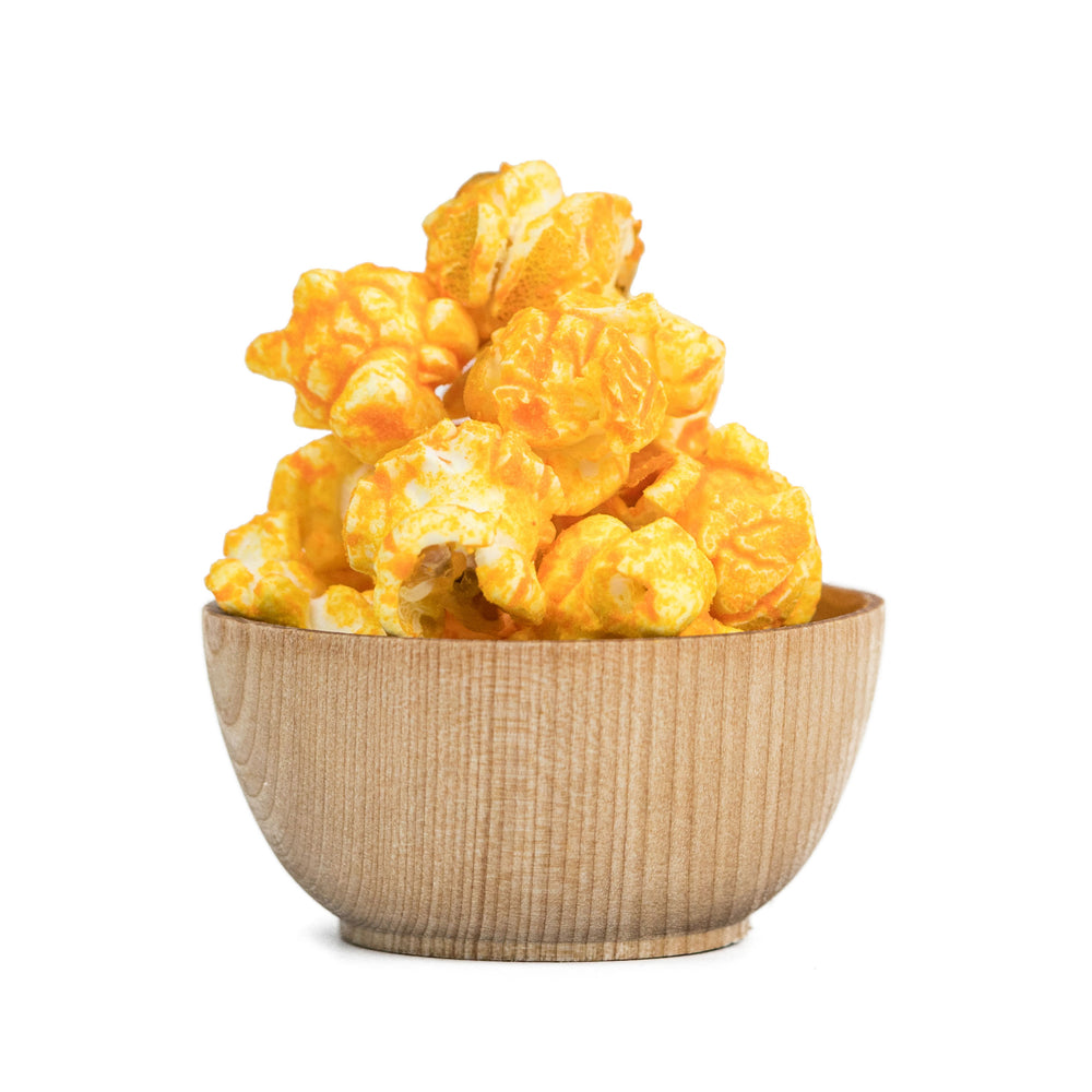 Chicago Baked Cheddar Popcorn Product Art Tasty